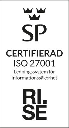 ISO-27001 certifierad