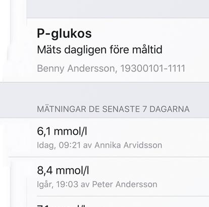 P-glukos som mätvärde i MCSS